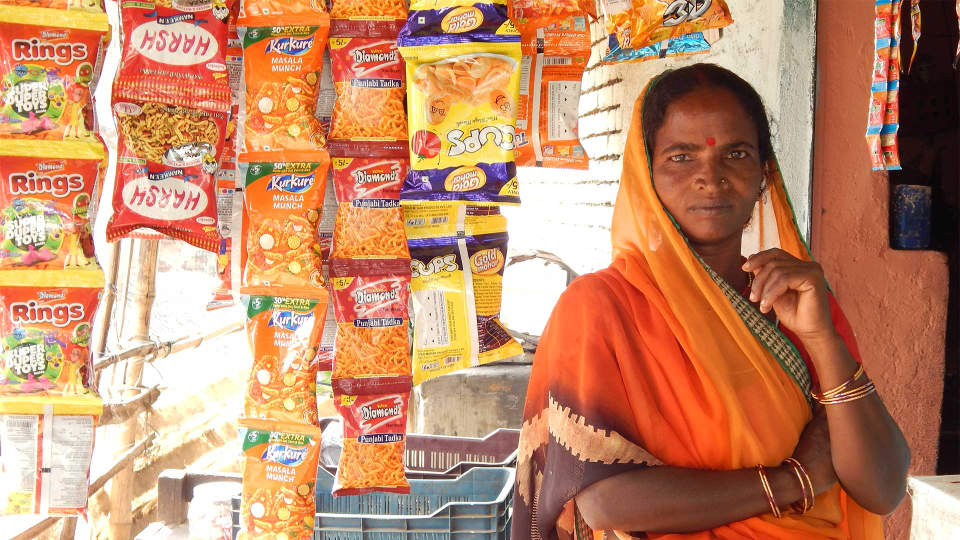 Chinta Devi and her snack shop