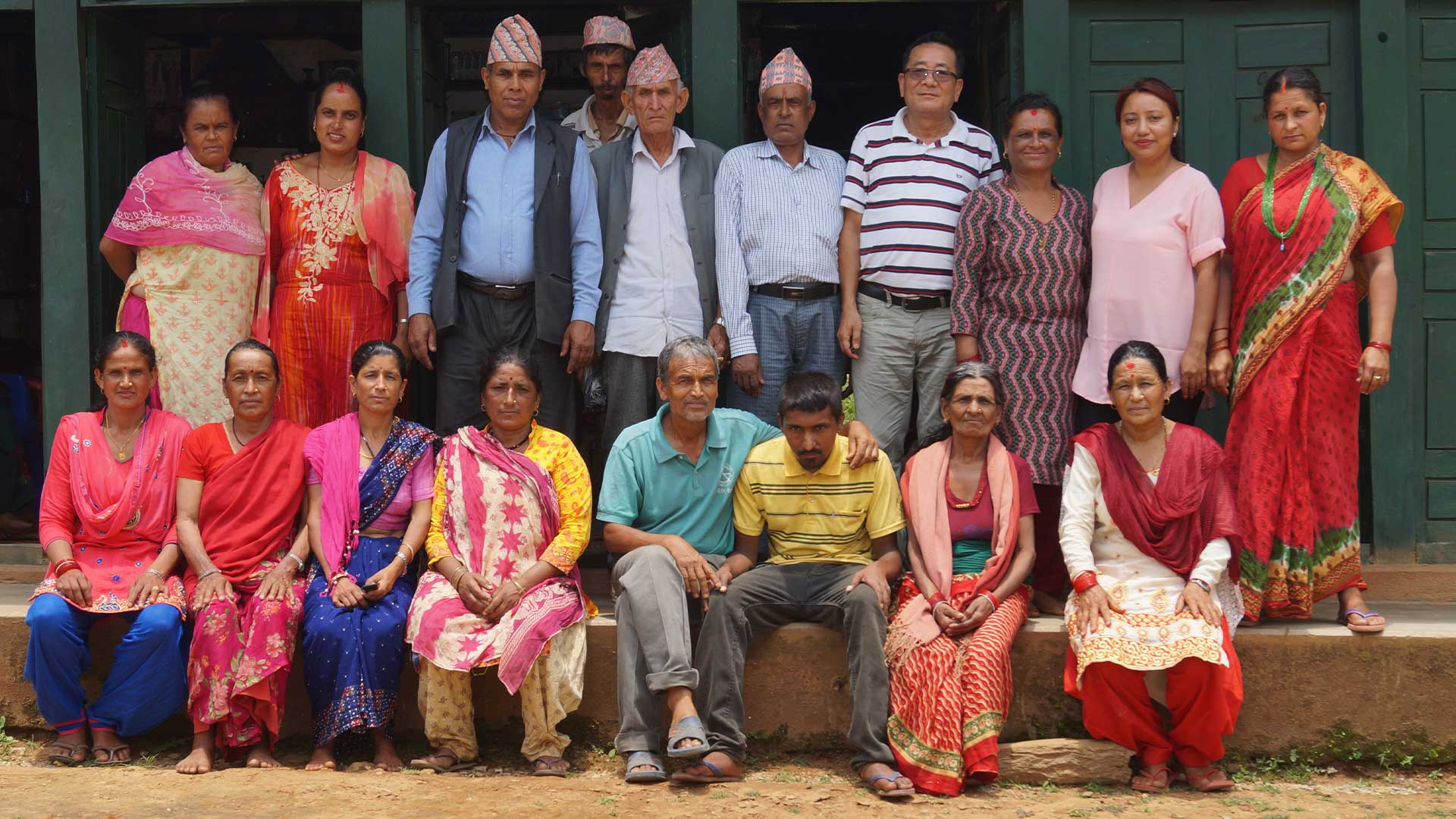 Group photo carers, cared for individuals and staff in Nepal
