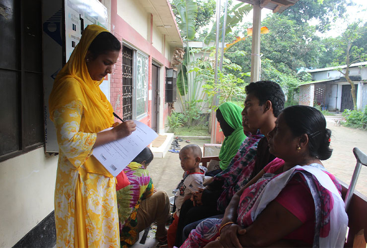 Carers and family members at Health Camp in Bangladesh