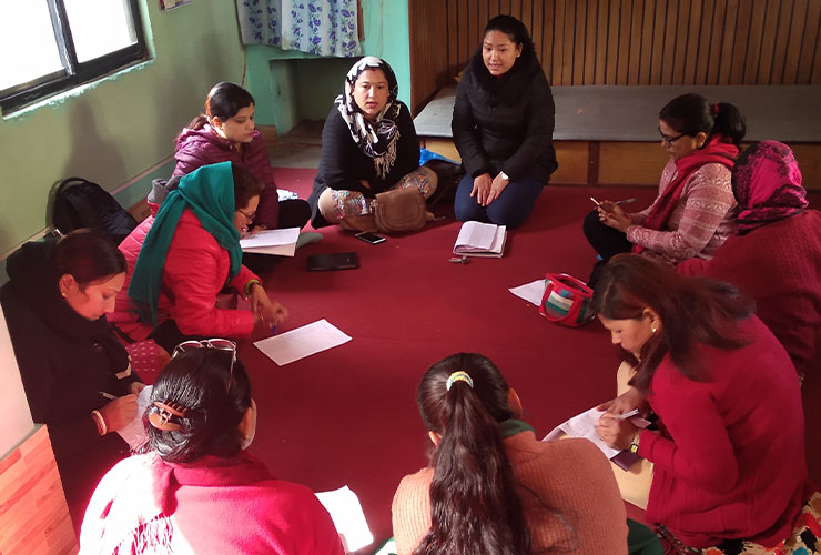 Carers Group training in Nepal